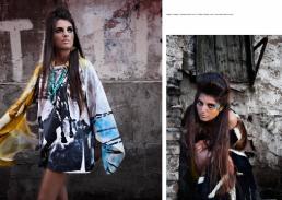 maglia: vintage // sciarpa: stylist's own // collana: danae roma // orecchini: danae roma