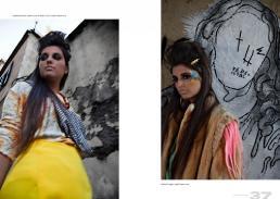 sx maglia: just cavalli vintage // gonna: stylist's own // collana danae roma dx pelliccia vintage // spilla: danae roma