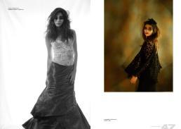 [sx] collana // danae roma   maglietta & gonna // stylist own [dx] coprispalle // lavinia turra   vestito // alysi