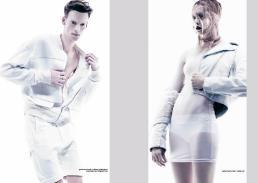 [sx] white jacket & white shorts // william richard green [dx] white jacket // mesh dress stylist's own