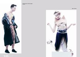 [sx] linen coat // harald lunde helgesen | trousers // harald lunde helgesen [dx] leather harness // alice fern | trousers // harald lunde helgesen | shoes // stylist's own
