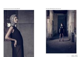 embrodery cagoul // sportmax | lace body // h&m | dress // gabriella cataldi dress & bustier // gabriella cataldi | gloves // sportmax | shoes // zara
