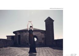 leather shirt, dress & panties // gabriella cataldi | shoes // zara
