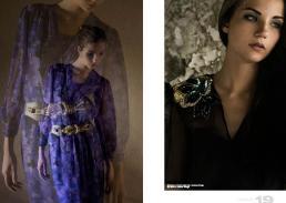 [sx] dress  // chloé | waist belt | versace vintage [dx] dress // versace vintage