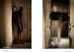 [sx] dress // vintage | circlet // stylist's own | ring // damara | shoes // zara [dx] lace top  // emilio pucci | pants // giorgio armani | shoes // vintage