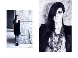 [sx] Vestito: Givenchy - Leggings: Alexander McQueen - Scarpe: Givenchy. [dx] Giacca: Alexander McQueen - Collane: Emanuele Bicocchi