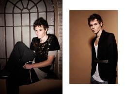 [sx] T-shirt nera: H&M - T-shirt: American Apparel- Pantaloni: XX- XY [dx] Giacca: XX- XY - Maglia: American Apparel - Cintura: Stylist's own - Shorts: Camo