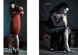 [sx] dress// ekaterina kukhareva | necklace // stylist own [dx] top & skirt // ekaterina kukhareva | shoes // stylist own