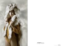 wolf fur // stylist\'s own | yellow onepiece // marie-claude guay