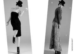 [sx] tuta intera a fascia // stylist's own | scarpe // stylist's own [dx] giacca // gold bunny | gonna lunga // stylist's own