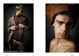 [sx] giacca // nat   maglione & pantaloni // vintage   maglietta // edo city   bracciale usato come spilla // danae roma [dx] cappello // stylist's own