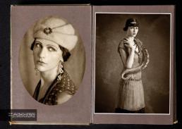 [sx] gilet // fendi vintage | vestito // compagnia italiana | cappello // vintage | orecchini // danae roma [dx] vestito // compagnia italiana | cinta // stylis's own | gonna, collana, guanti, fascia capelli // vintage