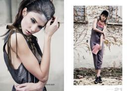 [sx] vest & dress // ilaria nistri | neck corset & ring // paola puro [dx] suit // comeforbreakfast | jewellry & bag // sergei grinko | shoes // united nude | hat // stylist own