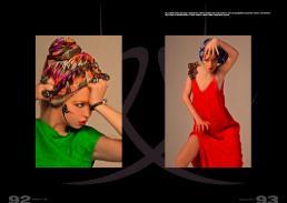 [sx] foulard in seta stampata // stylist's own | tunica in jersey con scollo a barca // edo city by alessandra giannetti | bijoux // ex merceria [dx] foulard  in seta stampata // numph | abito in crepe di seta // les praires de paris