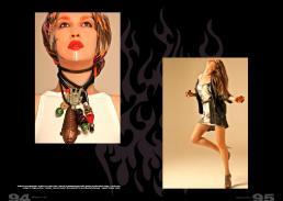 [sx] foulard in seta stampata // stylist's own | abito in lino // edo city by alessandra giannetti | giubbino in pelle delavè vintage // rokit london  [dx] cardigan in maglia crochet // crossley | cinture in suede // laura urbinati | top in jersey effetto tye&dye  // gestuz | scarpe // pinko