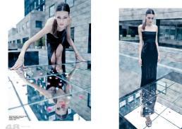 dress black night // alberto caneglias | shoes //alexander mcqueen | crystals // swarovsky | mirrors // ikea